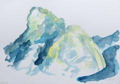 Kofel, Aquarell, 32cm x 24cm, dlemme 2016