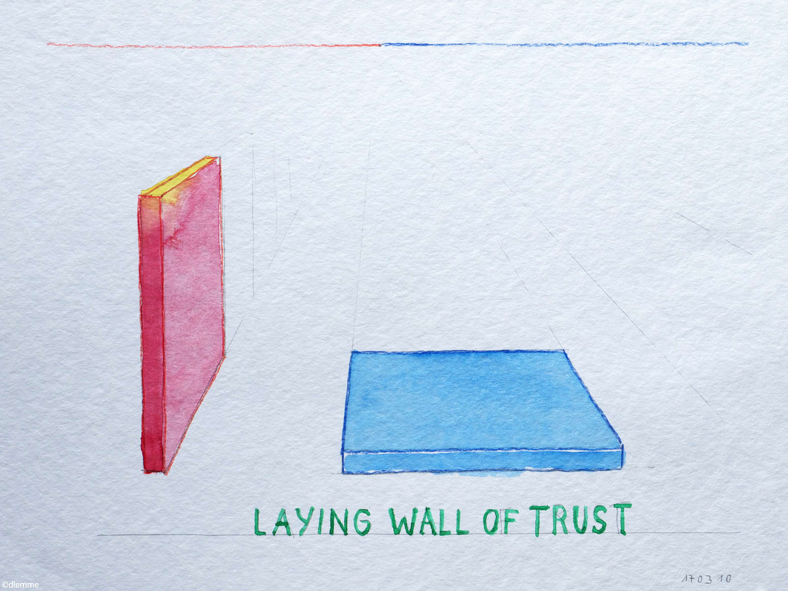 Laying Wall of Trust, Aquarelle, März 2017